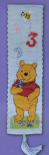 Disney Winnie The Pooh 123 Bookmark Cross Stitch Kit